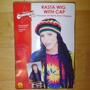 Halloween Rasta Wig with Cap NEW